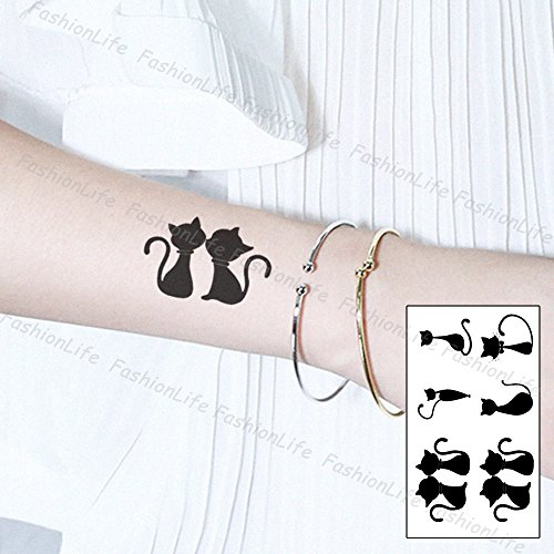 Temporäre Körperkunst Entfernbare Tattoo Aufkleber Katze Sticker Tattoo Temporary Tattoo - FashionLife
