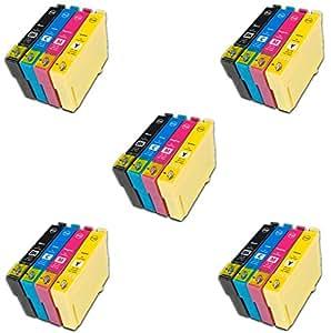 Prestige Cartridge 27XL Lot de 20 Cartouches d'encre compatible avec Imprimante Epson WorkForce WF-3620dwf, WF-3640dtwf, WF-7110dtw, WF-7610dwf, WF-7620dtwf, Noir/Cyan/Magenta/Jaune