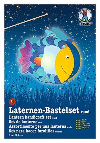 Ursus 18700005 - Laternen-Bastelset, Fisch, ca. 27 x 31 cm - Fisch-laterne