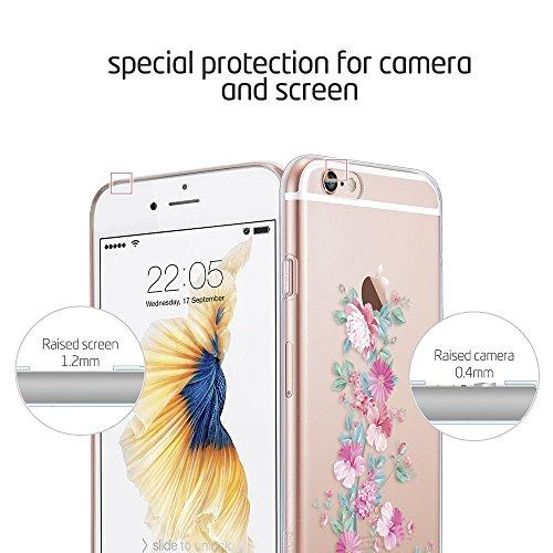 iPhone 6S Plus / 6 Plus Hülle (5,5 Zoll), ESR® Mania Series Transparent Weiche Silikon Schutzhülle TPU Bumper Case für iPhone 6/6S Plus (Morgen Ritual) Blühen