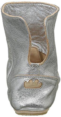 Easy Peasy Mädchen Bobotte Uni Hohe Hausschuhe Silber (058 Silver)