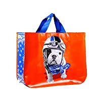 Foxtrot teoc9385Non-Woven Shopping Collector with Orange Design 18x 45x 36cm