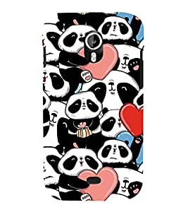 Fiobs Designer Back Case Cover for Micromax Canvas HD A116 :: Micromax A116 Canvas HD (Panda Heart Beautiful Lovely)