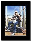 gasolinerainbows Uriah Heep - Mick Box. UK Magazine Promo auf einem schwarzen Berg