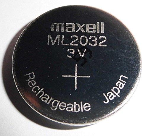 Maxell ML2032/ML 2032 rechargeable/wiederaufladbare Knopfzelle