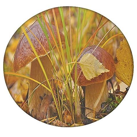 Orange Mushroom Round Mandala Tapestry, Hippie Hippy Style, Throw Bedding Bedspread, Gypsy Wall Hanging, Indian Boho Gypsy Cotton Tablecloth Beach Towel, Decorative Wall Hanging, Round Meditation Yoga