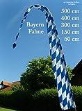 DEKOVALENZ - Gartenfahne BAVARIA blau-weiss, Bayernfahne bayrische Gartendeko, Fahnenlänge:3 Meter