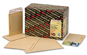 New Guardian Envelopes Heavyweight Board-backed Peel and Seal Manilla 190x140mm [Pack of 125]