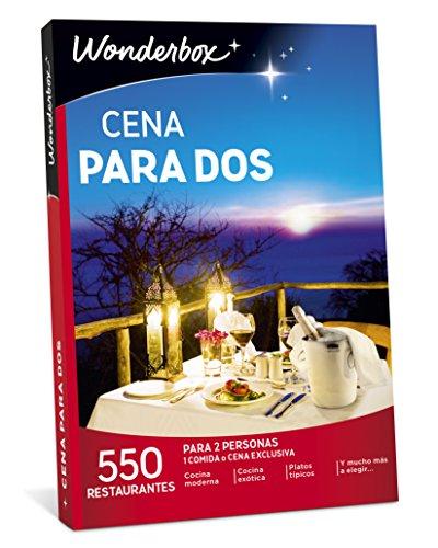 WONDERBOX Caja Regalo -Cena para Dos- 550 restaurantes seleccionados para Dos Personas
