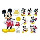 Smart Art Disney Wandsticker Klassisch Mickey Mouse Wandaufkleber Schön Wandtattoos Wanddekorationen Tapete zum Zuhause Schlafzimmer (C)