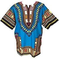 Dashiki Camicia da uomo africano Dashiki spiaggia Taglia (Mens Dashiki)