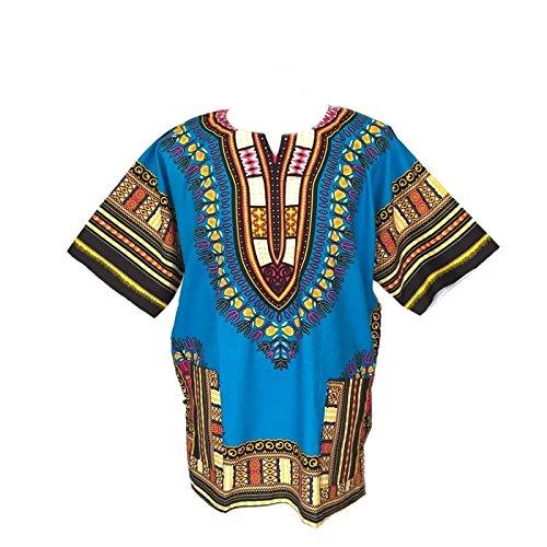 Dashiki Camicia da uomo africano Dashiki spiaggia Taglia L LightBlue Taglia (Mens Dashiki)