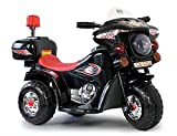 Toyas Kindermotorrad Polizei Motorrad in Schwarz