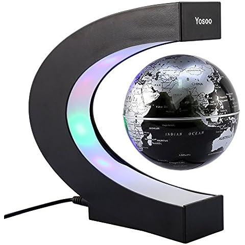 Yosoo® C Forma Globo Fluttuante con LED a Levitazione Magnetica, per l'Istruzione, Imparare, Insegnare, Decorazione della Casa Ufficio, Idee Regalo -