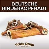PrideDogs Rinderkopfhaut 1000g der Premium Kausnack für Ihren Hund | 100% Rind aus Deutscher Herstellung | im geruchsneutralen Beutel | Kauartikel