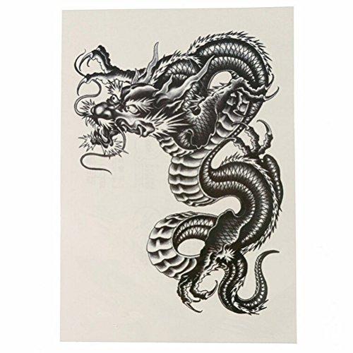 ULTNICE Temporäre Arm Tattoos großen schwarzen Drachen temporäre Tattoo Aufkleber für Männer Frauen (Drache Temporäre Tattoo)