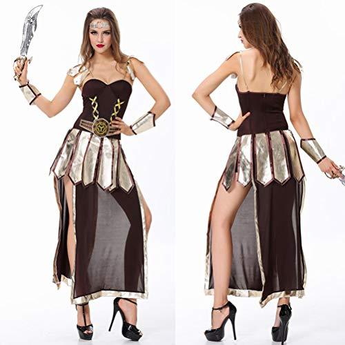 YRE Cosplay Robin Hood weibliches Kriegerkostüm, Rollenspiel-Nachtclub-Partykostüm, Halloween Pirate Kostüm (Mittelcode)