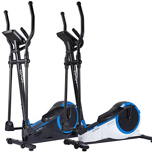 Elliptical Crosstrainer MX700 Ellipsentrainer Heimtrainer belastbar bis 150 kg Schwungmasse: 14,5 kg inkl. Computer Pulssensoren Smartphone-Halterung Wieß