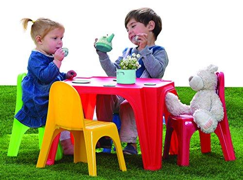 Tisch-Pic Nic, Tisch Pic Nic Kinder, Tisch Pic Nic Außen für Kinder, Tisch mit Stühlen, Maße 55,5x 55,5x 36,5, Tisch Picknick Garten ideal für ruhigen Nachmittagen-Spiel.