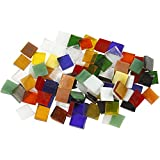 Teselas de cristal para mosaico, medidas 10x10 mm, grosor 3 mm, 454gr