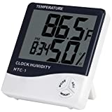 Picture Of Anpro Digital Indoor Temperature and Humidity Meter with Alarm Clock, LCD Hygrometer Thermometer Monitor for Home, Office