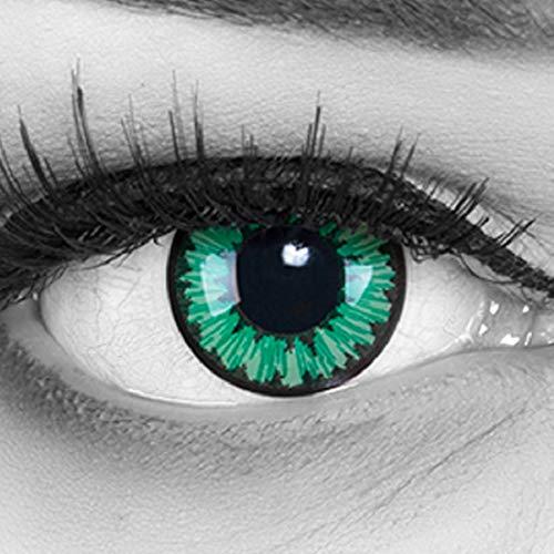 �ne Motivlinsen weiche Jahres Kontaktlinsen. Ideal zu Fasching, Halloween und Karneval mit gratis Kontaktlinsenbehälter. ()