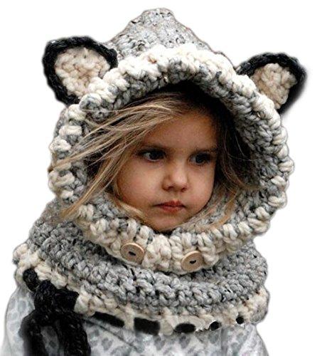 Arrowhunt Kinder Junge Mädchen Schalmütze Tier Mütze