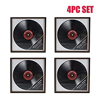 Ardisle 4 X Vinyl Record Frame Retro LP Album Cover Frame Wall Display 12