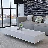 OAKOME Couchtisch Wohnzimmertisch Kaffeetisch Beistelltisch Coffee Tisch Holztisch modernen und eleganten, Weiß