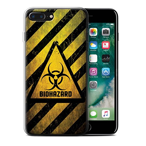 Coque Gel TPU de STUFF4 / Coque pour Apple iPhone 7 / Toxique/Crâne Design / Signes de Danger Collection Biohazard