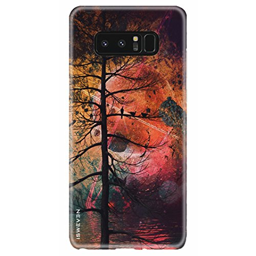 iSweven Samsung Galaxy Note 8 / samsung note 8 / case / cover, printed, 360 protection, smooth, ultra slim, durable,light weight matte finish back cover (3067 Art)