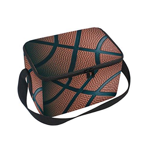 DOSHINE Basketball Sport Isolierte Lunch Box Tasche, Kühler Ice Lunch Tasche Wiederverwendbar für Männer Frauen Erwachsene Kinder Jungen Mädchen