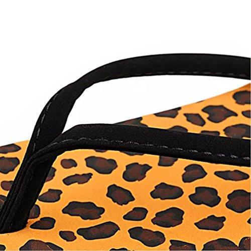 Baymate Donna Semplice Stile Infradito Casuale Spiaggia Pantofole Sandali Leopardo