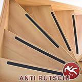 Anti-Rutsch-Streifen / 65 x 3 cm / 10 Stück / schwarz / selbstklebend / für Sicherheit beim Treppensteigen