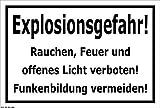 Melis Folienwerkstatt Aufkleber - Explosions-Gefahr - 15x10cm – S00055-A - 20 Varianten