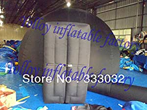 Diamètre HAUTE 4m tente de planétarium gonflable QUALITYportable planétarium balck tente dôme avec porte