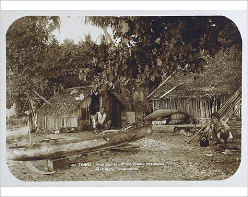 photographic-print-of-a-tahitian-village-scene