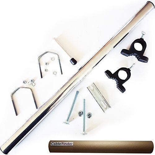 Parabola satellitare/antenna Mast Pole portatile/staffa Ruotino kit/set–/camper/caravan/camping/Travel–Sky/Freesat