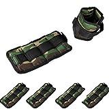 4 PESI IN TOTALE - Una coppia per le caviglie cavigliere ed una coppia per i polsi polsiere ottimi per allenamento e resistenza con peso 0,5 KG - Colore Mimetico