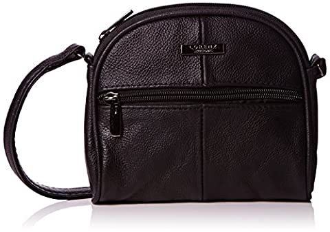 Lorenz Real Genuine Leather Small Shoulder Bag Cross body bag BLACK