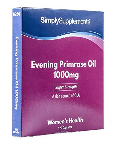 Aceite de Onagra 1000mg - 120 cápsulas - Hasta 4 meses de suministro