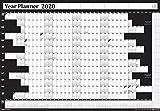 Póster anual anual de 2019 para la oficina, planificador de pared, calendario de vacaciones, incluye Reino Unido e Irlanda y calendario de 2020, sin montar, sin laminar, 2 tamaños, 7 colores