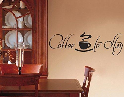Apalis Wandtattoo No.UL419 Coffee to Stay 2 Wandtattoos Küche Kaffee Tasse Trinken, Farbe:Rot;Größe:25cm x 75cm (Rote Tassen Trinken)