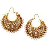 Kundan kundans earrings traditional polk...
