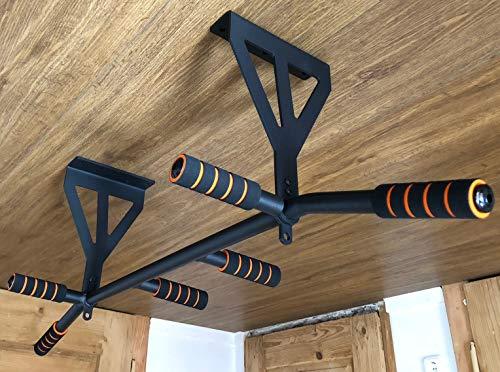Faultier Designer Klimmzugstange zur Deckenmontage bis 200 kg mit 2 Haken für Boxsack, Schlingentrainer, etc.