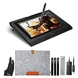 """Parblo Coast10 10.1"""" Digital Zeichnung Grafik Monitor Grafiktabletts Anzeige Graphic Drawing Tablet Monitor Display mit Batterie frei Stift Pen und Wolle Liner Bag"""