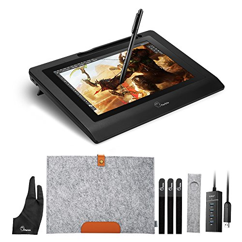 "Parblo Coast10 10.1"" Digital Zeichnung Grafik Monitor Grafiktabletts Anzeige Graphic Drawing Tablet Monitor Display mit Batterie frei Stift Pen und Wolle Liner Bag"