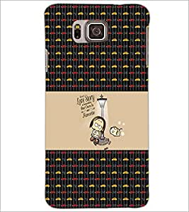 PrintDhaba Quote D-3001 Back Case Cover for SAMSUNG GALAXY ALPHA (Multi-Coloured)