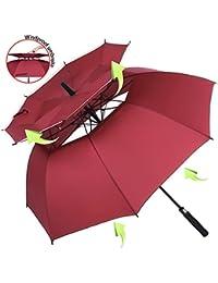 ZOMAKE Grand Parapluie Automatique de Golf - Solide Homme Femme Taille 157,5 cm Anti UV Anti Retournement Tempête Vent
