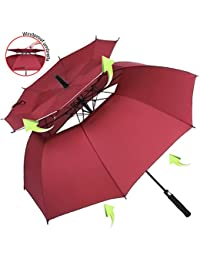 ZOMAKE Paraguas Grande Antiviento, Automático Paraguas de Golf Con Doble Cubierta para Mujer Hombre (
